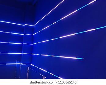 Blue neon lights