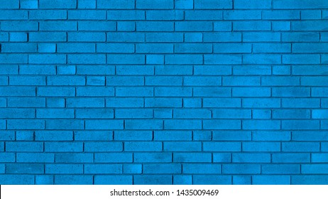 Blue new brick wall texture background
