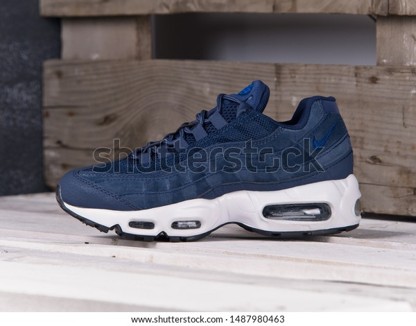 Blue Nike Air Max 95 Sneakers Stock Photo (Edit Now) 1487980463