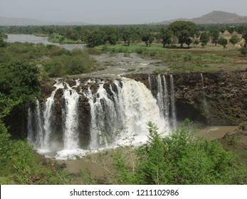 Blue Nile falls (Tis-Isat Falls, meaning great smoke in Amharic) in Amara region of Ethiopia, Eastern Africa