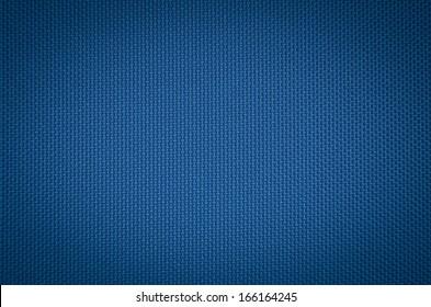 blue nylon fabric texture. coarse canvas background - closeup pattern
