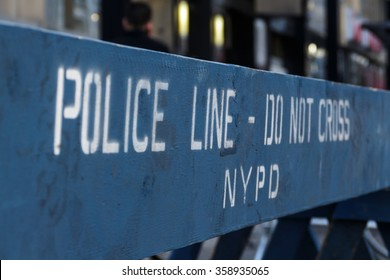 blue NYPD police line