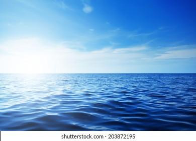 Blue ocean and beautiful blue sky - Shutterstock ID 203872195