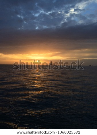 Blue Ocean Sky With Beautiful Clouds Sunrise Sunset View HD Mobile And Desktop Wallpaper