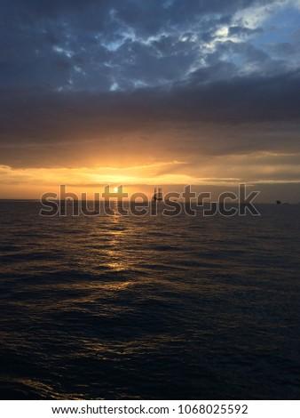 Blue Ocean Blue Sky Beautiful Clouds Stock Photo Edit Now