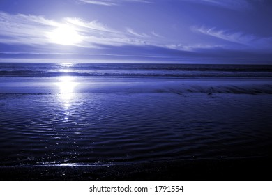 Blue Ocean Sunset
