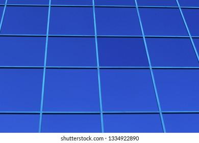blue office finance building glass windows