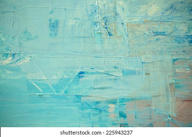 Blue oil color painting texture. Abstract background
