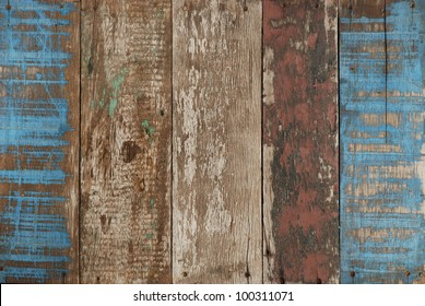 blue old wood