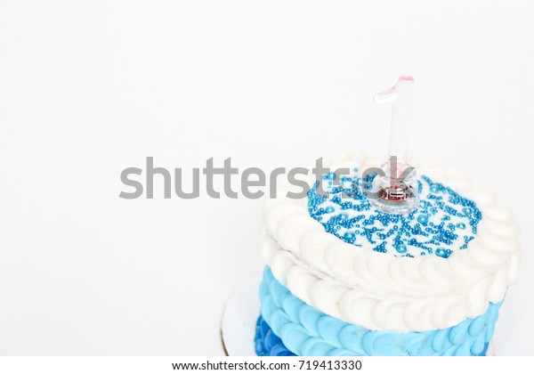 Marvelous Blue Ombre Birthday Cake Baby Boys Stock Photo Edit Now 719413330 Personalised Birthday Cards Petedlily Jamesorg