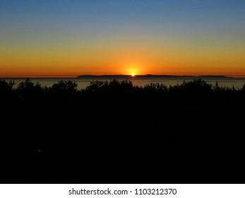 Blue and Orange Ocean Sunset