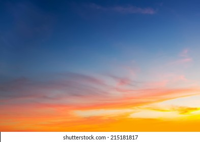 blue and orange sky in Alghero, Sardinia
