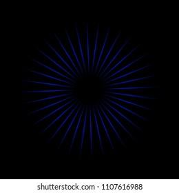 Blue oscillator with black background texture