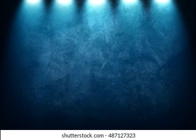 blue paint with spotlight background