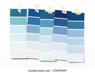 Blue Paint swatch on wall