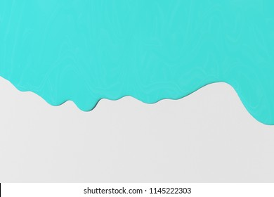 blue paint texture on gray canvas. Minimalistic background with copy space. Creative concept.
