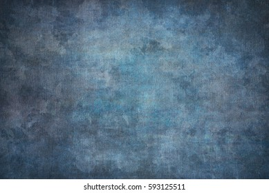 Blue painted canvas or muslin fabric cloth studio backdrop or background