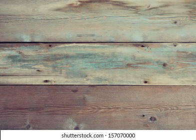 Blue painted wooden background. Wooden texture.
