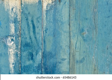 A blue painted wooden door