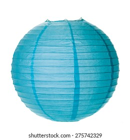 Blue Paper Lantern isolated on white background