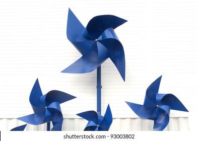 Blue paper turbine.