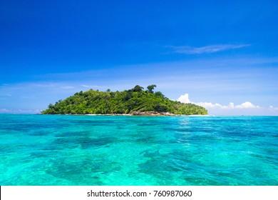 Blue Paradise Desert Island