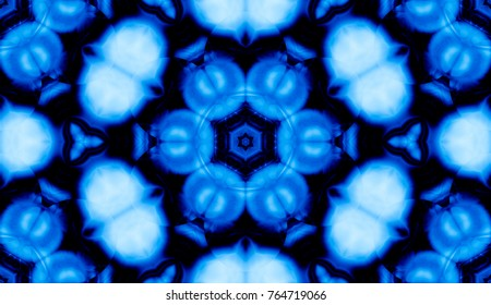 Blue pattern with geometric and abstract design