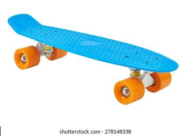 Blue penny skateboard
