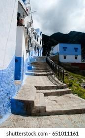 blue perl city of chefchouen, atlas, morocco