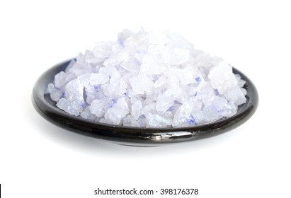 Blue Persian salt. Isolated on white background.