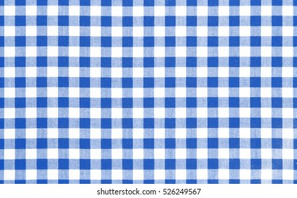 Blue picnic cloth pattern wallpaper background.Kitchen menu backdrop.Retro fabric surface transparent.
