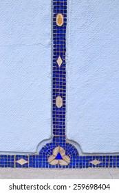 Blue pieces of glass decorate the Blue Church (Church of St Elisabeth) walls, Bratislava, Slovakia