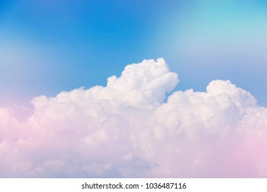 blue and pink clouds in the sky boho style