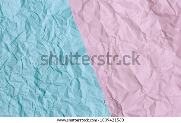blue and pink creased paper texture background