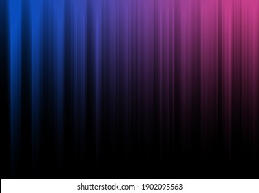 Blue and pink light stripes make a curtain