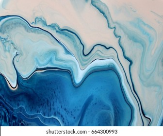 Blue pink pastel marble color mix, art painting.