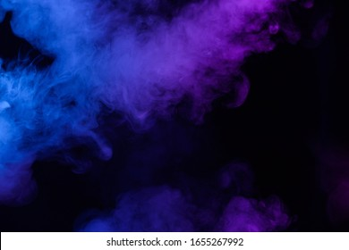 Blue and pink soft smoke clouds abstract background