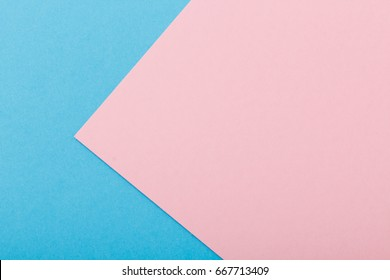 Blue and pink two tone color paper background