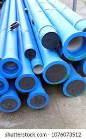 Blue Pipes For New Municipal Water System