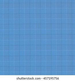 blue plaid fabric background.