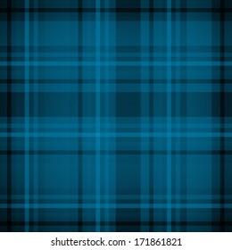 Blue plaid fabric pattern background