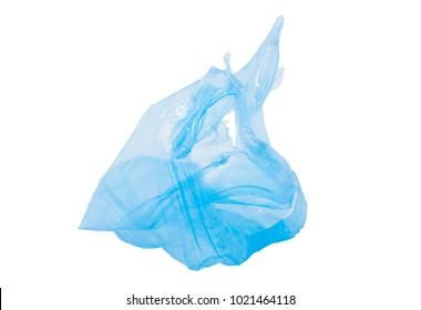 blue plastic bag for recycle concept