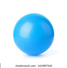 Blue plastic ball isolated on white