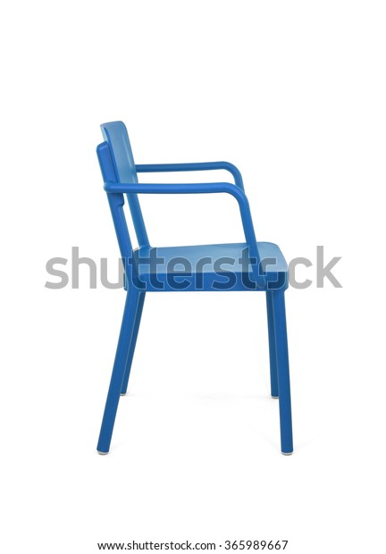 Groovy Blue Plastic Outdoor Cafe Chair On Stock Photo Edit Now Alphanode Cool Chair Designs And Ideas Alphanodeonline