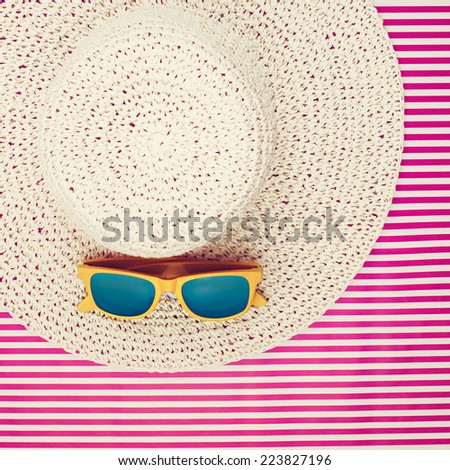 Blue Plastic Sunglasses Yellow Frames On Stock Photo (Edit Now ...