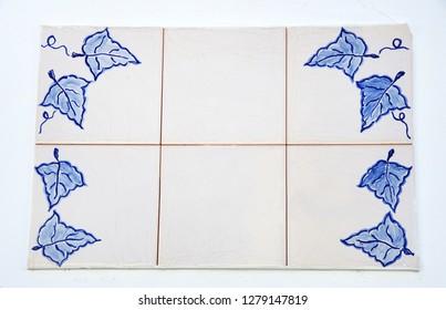 "blue portuguesse tiles of  Adega: ""wine House"""