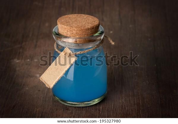 blue Potion in a bottle