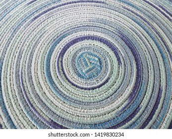 blue and purple fabric placemat or textile