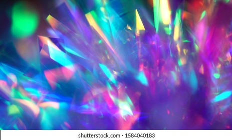 Blue and purple neon shiny festive texture. Blurred colorful bright light