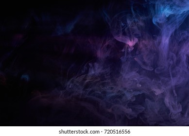 Blue Purple Vape Smoke on Black